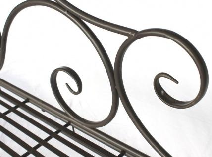 DanDiBo Gartenbank Metall Braun Wetterfest 123 cm Bank Sitzbank 2-Sitzer DY140488 Metallgartenbank mit Rückenlehne Parkbank Garten Antik - Vorschau 4