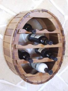 DanDiBo Weinregal Holz Wand Weinfass für 12 Flaschen Braun gebeizt Flaschenständer für die Wandmontage Wandregal zum aufhängen Flaschenregal