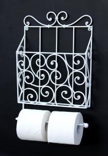 Zeitungs Toilettenpapierhalter 92124 Weiß Toilettenrollenhalter Zeitungsständer