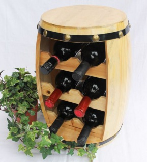 Weinregal Weinfass Fass aus Holz H-42cm Nr.1511 Flaschenständer