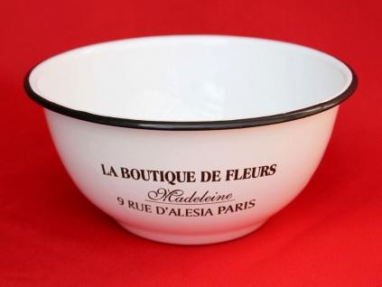 Schüssel 51229 Weiß emailliert 17, 5 cm Müslischale Teller Salatschüssel Emaille