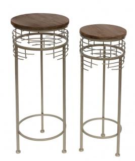 Blumenhocker Metall 21288 2er Set Blumenständer Rund Beistelltisch Modern - Vorschau 4
