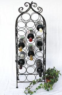 Weinregal JD130665 aus Metall 100cm Flaschenregal Flaschenhalter Flaschenständer - Vorschau 2