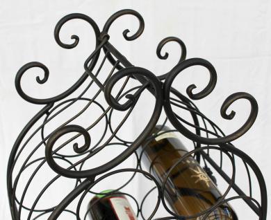 Weinregal JD130665 aus Metall 100cm Flaschenregal Flaschenhalter Flaschenständer - Vorschau 4