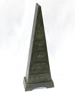 Pyramide Kommode 100cm Grün mit 4 Schubladen Loft Cargo Schrank Shabby Truhe - Vorschau 5