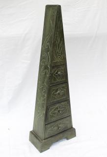 Pyramide Kommode 100cm Grün mit 4 Schubladen Loft Cargo Schrank Shabby Truhe - Vorschau 4