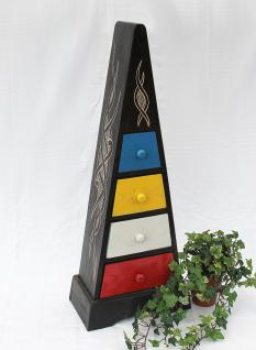Cargo Loft Pyramide Celtic 80cm Bunt Kommode mit 4 Schubladen Schrank aus Holz - Vorschau 1