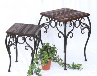 Blumenhocker 2er Set HX12593 Blumenständer 34, 43cm Eckig Blumensäule Tisch