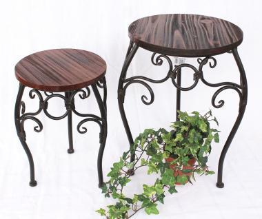 Blumenhocker 2er Set HX12592 Blumenständer 34, 43cm Rund Blumensäule Tisch
