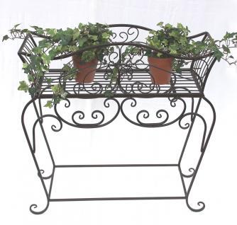 Blumenständer 68cm Blumenbank 12554 S Metall Blumenregal Beistelltisch Tisch - Vorschau 2