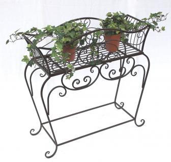 Blumenständer 68cm Blumenbank 12554 S Metall Blumenregal Beistelltisch Tisch - Vorschau 5