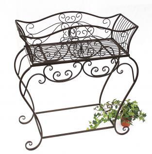 Blumenständer 85 cm Blumenbank 12554 XL Metall Blumenregal Beistelltisch Tisch