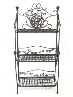 regal avis 1844 aus metall schmiedeeisen braun 123cm b cherregal badregal kaufen bei dandibo. Black Bedroom Furniture Sets. Home Design Ideas