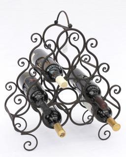 Weinregal JC130060 aus Metall für 10 Flaschen Flaschenhalter 52cm Flaschenregal - Vorschau 5