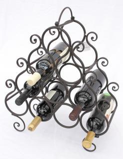 Weinregal JC130060 aus Metall für 10 Flaschen Flaschenhalter 52cm Flaschenregal - Vorschau 4