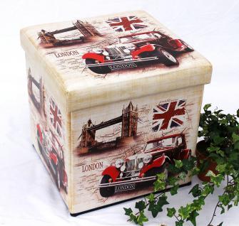 Hocker aus Kunstleder Sitzhocker 2219 Aufbewahrungsbox 40cm Sitzwürfel Truhe Korb