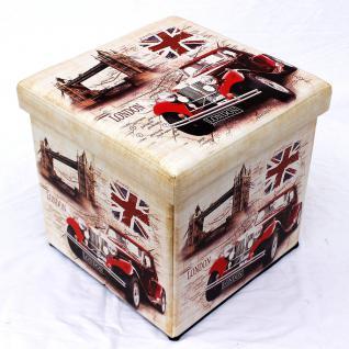 Hocker aus Kunstleder Sitzhocker 2219 Aufbewahrungsbox 40cm Sitzwürfel Truhe Korb - Vorschau 2