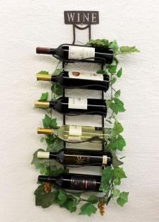 Weinregal Wine 83cm aus Metall 95208 Flaschenständer Wandregal Flaschenhalter - Vorschau 5
