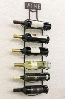 Weinregal Wine 83cm aus Metall 95208 Flaschenständer Wandregal Flaschenhalter - Vorschau 2
