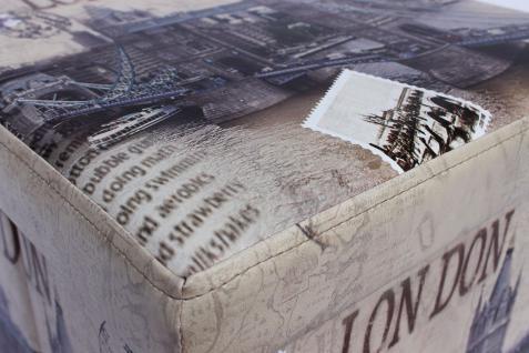 Hocker aus Kunstleder Sitzhocker 2002 Aufbewahrungsbox 40cm Sitzwürfel Truhe Korb - Vorschau 4