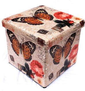 Hocker aus Kunstleder Sitzhocker 2218 Aufbewahrungsbox 40cm Sitzwürfel Truhe Korb - Vorschau 2