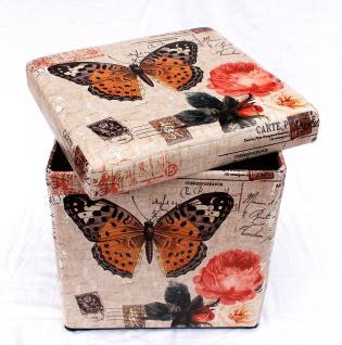 Hocker aus Kunstleder Sitzhocker 2218 Aufbewahrungsbox 40cm Sitzwürfel Truhe Korb - Vorschau 4