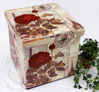 Hocker aus Kunstleder Sitzhocker 2220 Aufbewahrungsbox 40cm Sitzwürfel Truhe Korb