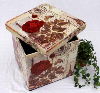 Hocker aus Kunstleder Sitzhocker 2220 Aufbewahrungsbox 40cm Sitzwürfel Truhe Korb - Vorschau 2