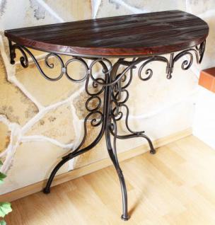 Tisch Wandtisch Beistelltisch aus Metall Halbrund 90cm HX12582