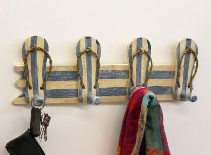 Garderobe Sandalen 2607 Wandgarderobe 45cm Kleiderhaken Handtuchhaken Haken - Vorschau 3