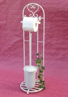 Toilettenrollenständer 81cm mit Bürste Weiß 95249 Toilettenpapierhalter WC Bad