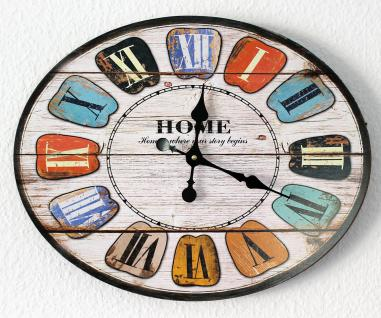 Wanduhr Home Loft 84632 Quarzuhr Ellipse B-49cm Uhr Designuhr Vintage Shabby