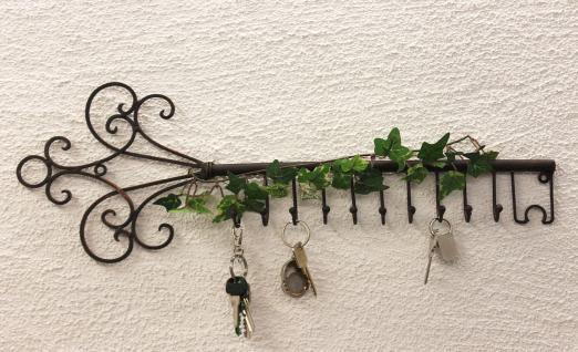 Schlüsselhänger Hakenleiste 101852 Schlüsselleiste 56cm Wandhaken Schlüsselbrett - Vorschau 5