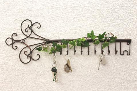 Schlüsselhänger Hakenleiste 101852 Schlüsselleiste 56cm Wandhaken Schlüsselbrett - Vorschau 1