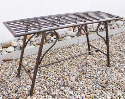 Bank Sitzbank CUCCIU-S B-83cm 077824 Gartenbank aus Metall Gartenmöbel - Vorschau 4