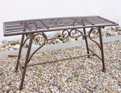 Bank Sitzbank CUCCIU-S B-83cm 077824 Gartenbank aus Metall Gartenmöbel - Vorschau 2