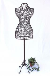 Schneiderpuppe 140cm 091864 aus Metall Schaufensterpuppe Schneiderbüste Puppe - Vorschau 2