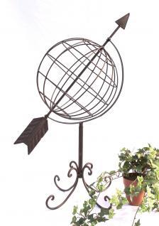 Globus aus Metall 101806 Sonnenuhr aus Schmiedeeisen 72cm Gartenuhr Gartendeko - Vorschau 1