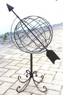 Globus aus Metall 101806 Sonnenuhr aus Schmiedeeisen 72cm Gartenuhr Gartendeko - Vorschau 4