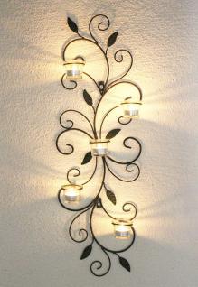 Wandteelichthalter 131001 Teelichthalter aus Metall 75cm Wandleuchter Kerzenhalter