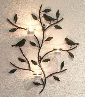 Wandteelichthalter 131002 Teelichthalter aus Metall 57cm Wandleuchter Kerzenhalter