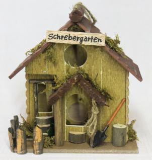 """Vogelhaus """" Schrebergarten"""" 83209 Vogelhäuschen Nistkasten a. Holz sehr dekorativ - Vorschau 3"""
