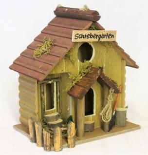 """Vogelhaus """" Schrebergarten"""" 83209 Vogelhäuschen Nistkasten a. Holz sehr dekorativ - Vorschau 1"""