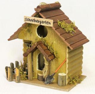 """Vogelhaus """" Schrebergarten"""" 83209 Vogelhäuschen Nistkasten a. Holz sehr dekorativ - Vorschau 2"""