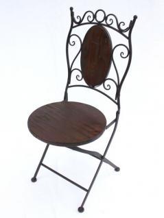 Stuhl Gartenstuhl HX12581 Bistrostuhl 70cm Klappstuhl Metall und Holz