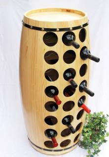 Weinregal Weinfass für 48 Fl. aus Holz H-99cm Nr.1502 Flaschenständer Regal Fass Bar - Vorschau 5