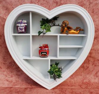 Setzkasten Herz 15K050 aus Holz 40cm Wandregal Sammlervitrine Schaukasten Regal - Vorschau 3