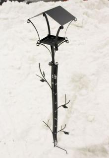 Rankhilfe mit Schneehöhenmesser und Futterhäuschen 160cm Kletterhilfe Vogelhaus - Vorschau 4