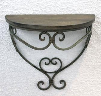 """Wandregal 12095 Wandkonsole 31cm """" Malega"""" S aus Metall mit Holzablage Badregal - Vorschau 4"""