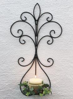 Wandkerzenhalter 12107 Kerzenhalter aus Metall Schmiedeeisen 58cm Kerzenleuchter